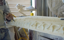 Limestone - Custom Carving Bench
