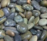"Black Mexican Beach Pebbles 1"" - 2"""