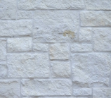 Natural White with White Mortar
