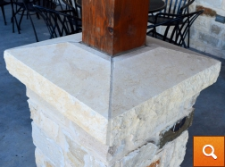Column Cap - Cream Limestone
