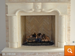 Fireplace Surround - Hand Carved