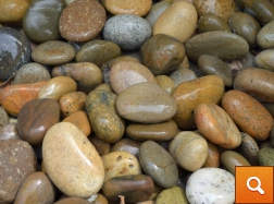 "Buff Mexican Beach Pebbles 1""- 2"""