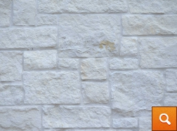 Natural White Ashlar with White Mortar