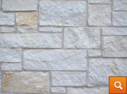 Natural White Ashlar with Almond Mortar