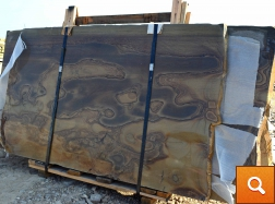 Teakwood Polished Slabs - on A-Frame
