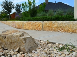 Limestone Quarry Block Retaining Wall