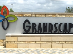 Commercial Entrance Sign - Stone Cladding