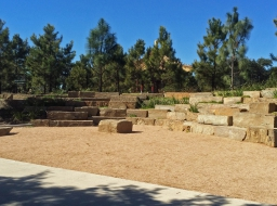 Commercial Hardscapes- Natural Stone Benches