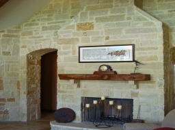 natural stone, great room, thin veneer, interior stone, stone yard houston, chopped stone, antique lueders, fireplace